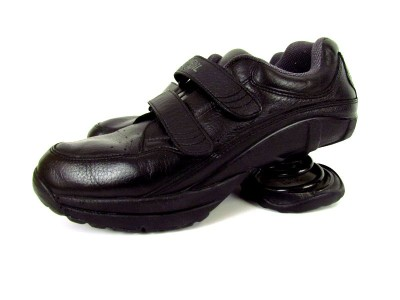 mens black z coil z walker velcro walking comfort shoes