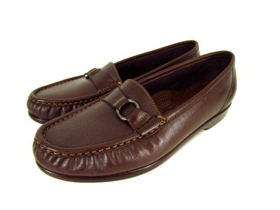 Details about womens brown SAS JEWEL slip ons loafers casual dress