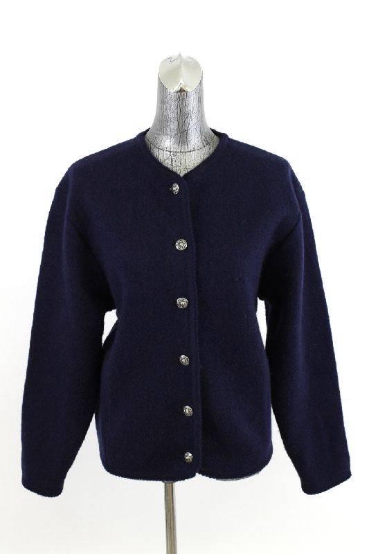 Women'S Navy Blue Cardigan Sweaters 112
