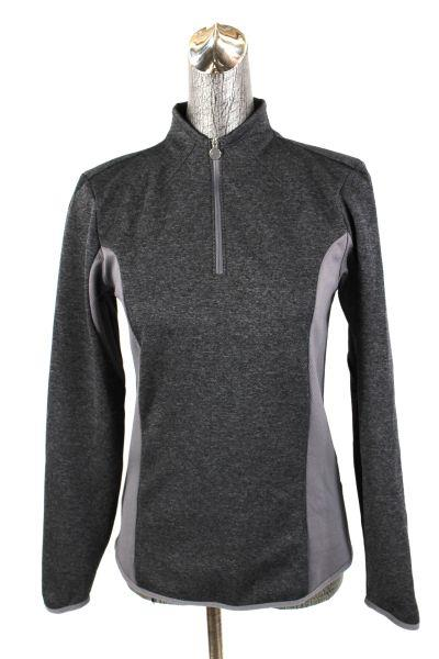 Womens gray nike golf dri fit pullover half zip for Women s dri fit golf shirts
