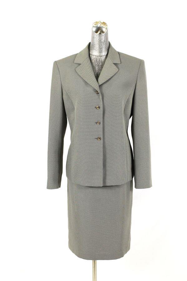 Womens taupe tan INGENUITY SKIRT SUIT blazer jacket career wear to work M 8 10 | eBay