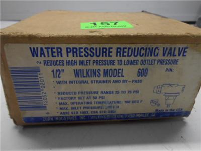 nos wilkins water pressure reducing valve 1 2 model 600 19l5 ebay. Black Bedroom Furniture Sets. Home Design Ideas