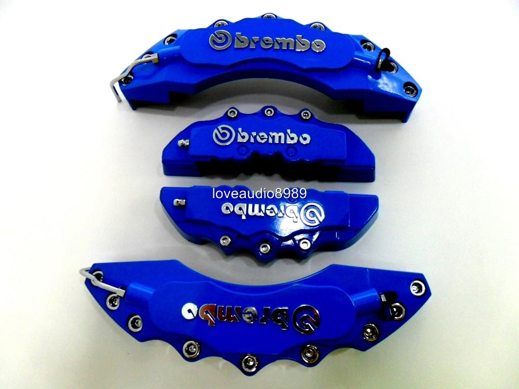 Plastic Measuring Caliper Covers : D style big light blue brembo look disc brake caliper