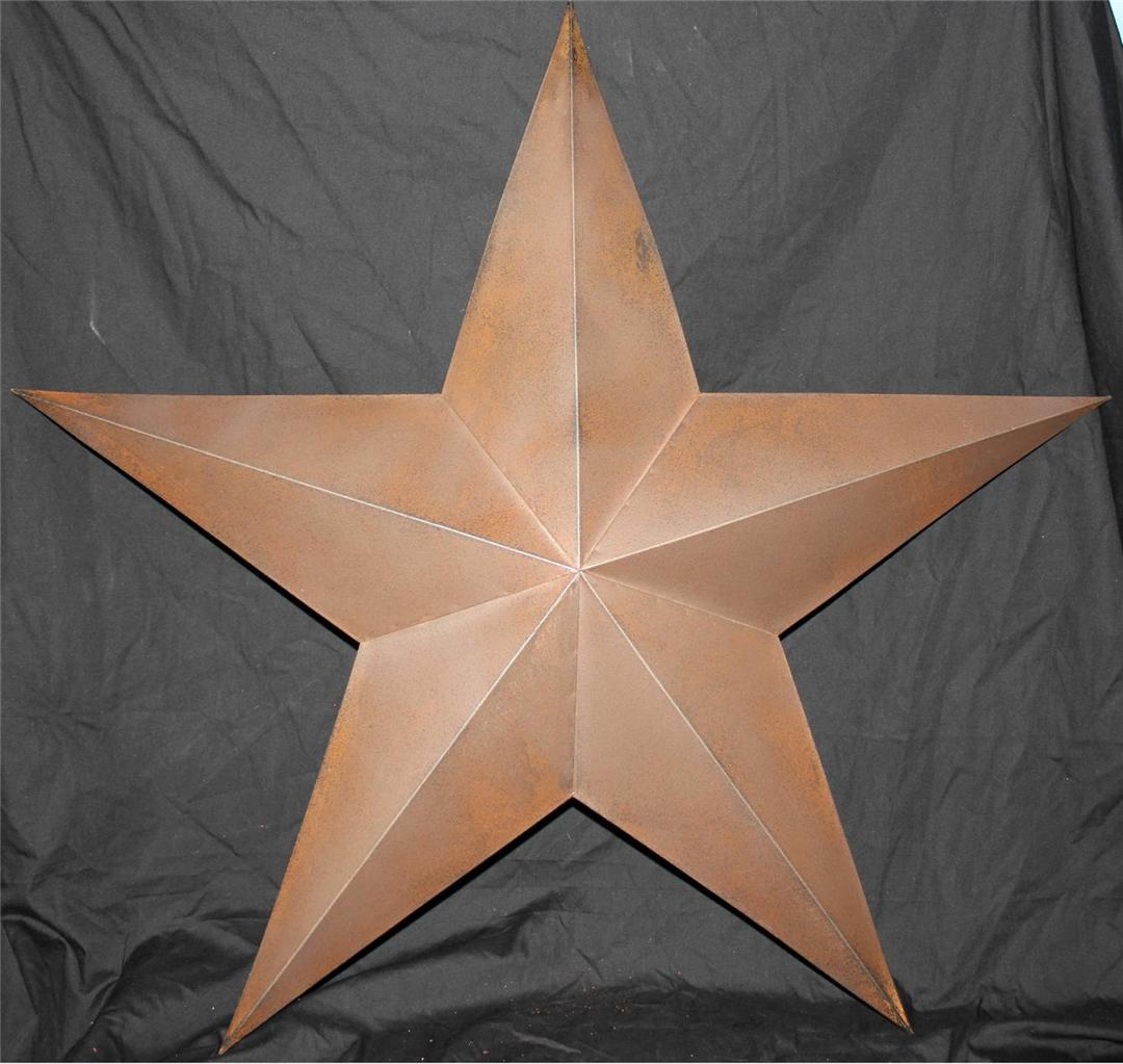 "Metal Star Wall Decor New Americana Texas Brown Metal Star 30"" Country Wall Decor Rustic"