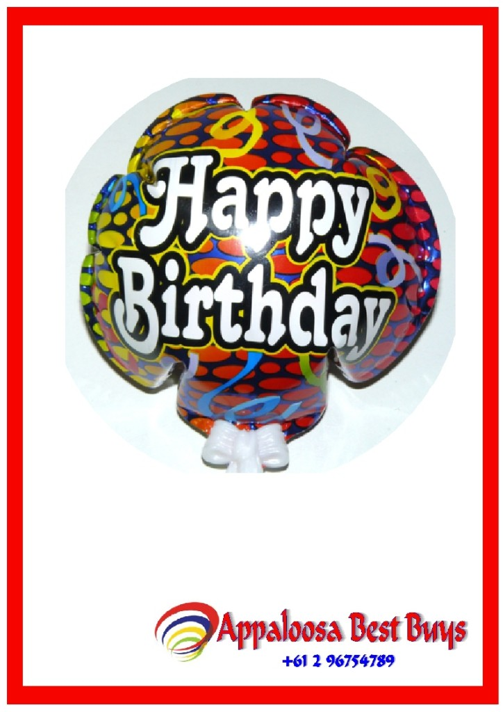 Bulk-Lot-4-x-Happy-Birthday-Streamers-Foil-Self-Inflation-Balloon-Party-Deco-New