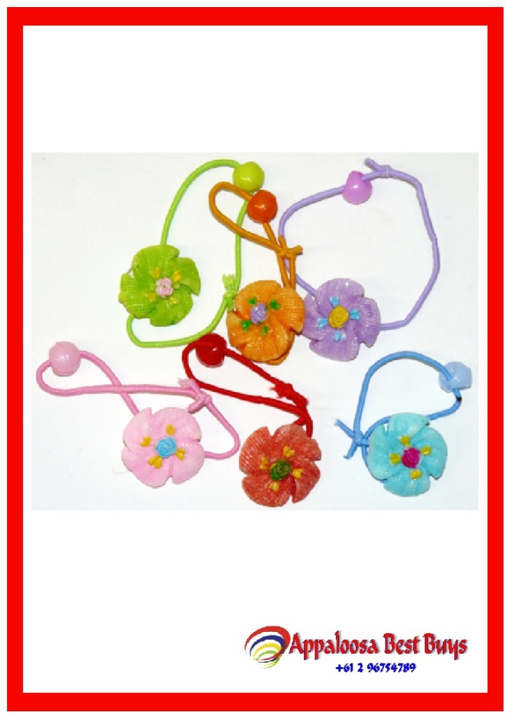 Bulk-Lot-Flower-Hair-Ties-x-72-Pcs-Wholesale-Girls-Lucky-Dips-New-5786