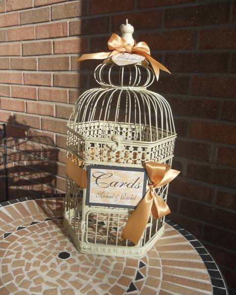 Birdcage Wedding Card Holder: Bird Cage Card Holder, Birdcage Money Holder, Wedding