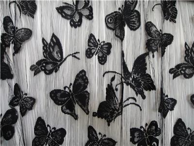 Black Butterfly Stringed Fringe Curtain 100cmx200cm   eBay