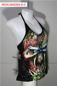 IRON MAIDEN DIY ROCK SHIRT METAL PUNK HALTER TOP NEW CD SIZE M