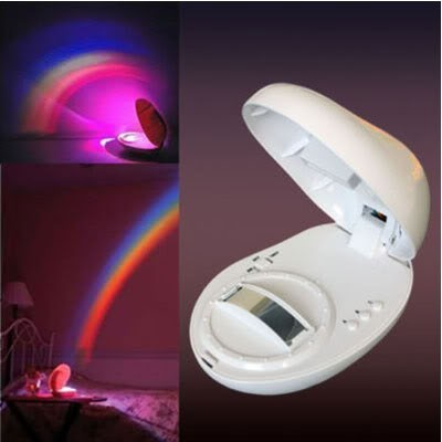 Baby Cot Nursery Mobile Toy Rainbow Projector Night Light