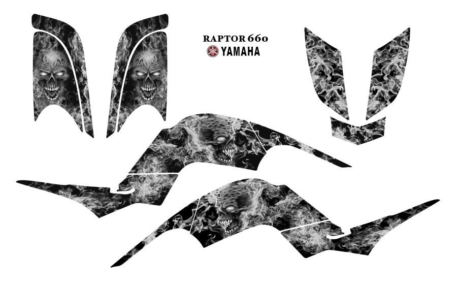 YAMAHA Raptor 660 QUAD Graphic Decal Kit 9500met Zombie