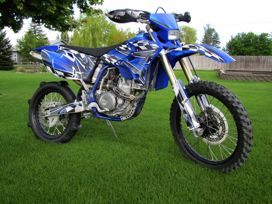 YZ graphics on an 01 WR250f - WR/YZ 250F