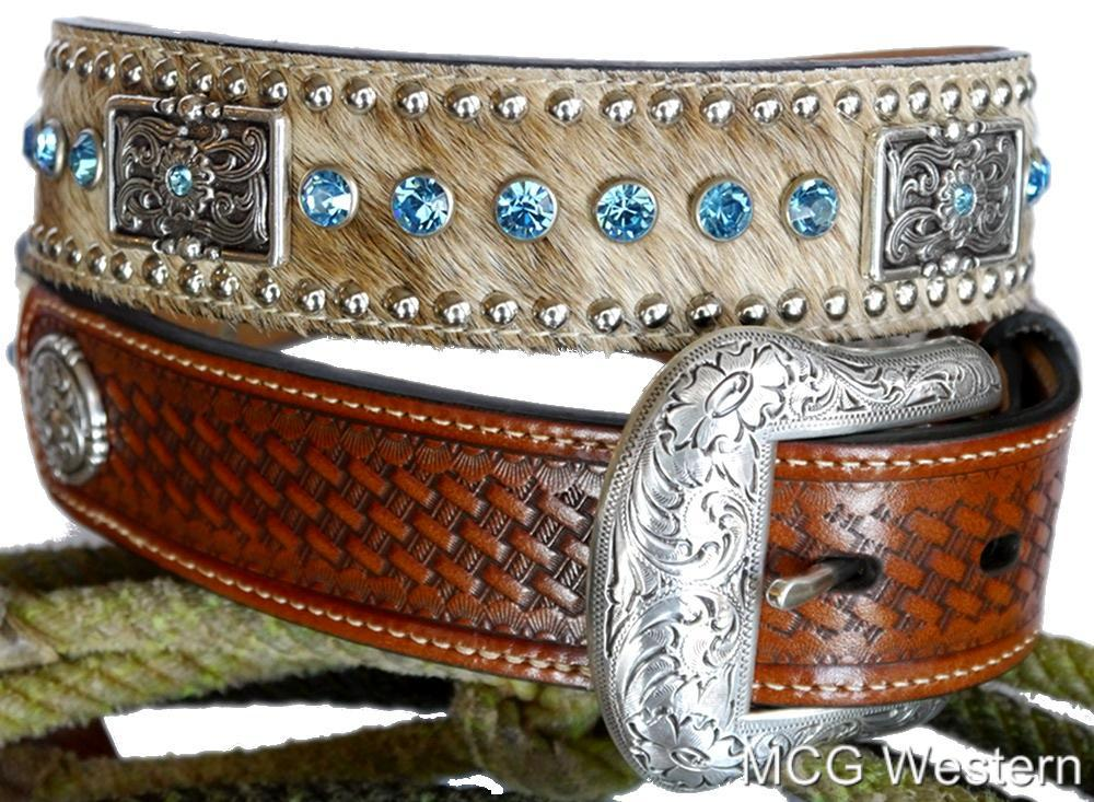 Western Rhinestone Belt Dog Collars