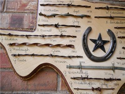 Texas Star Wall Art western texas state barbed wire plaque wooden wall art | ebay