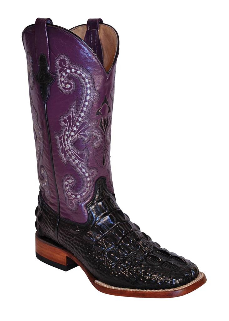 Awesome Women39s Black Cowboy Boots Purple Butterfly Sequins Genuine Leather