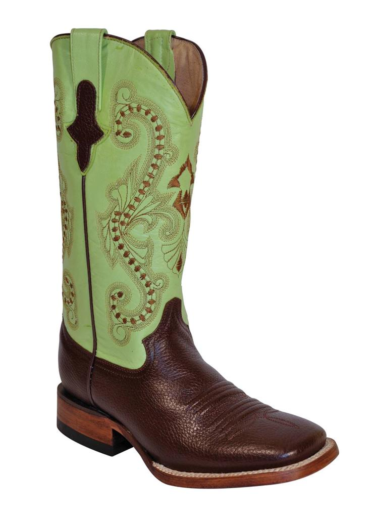 ferrini western cowboy boots womens cowhide brown square