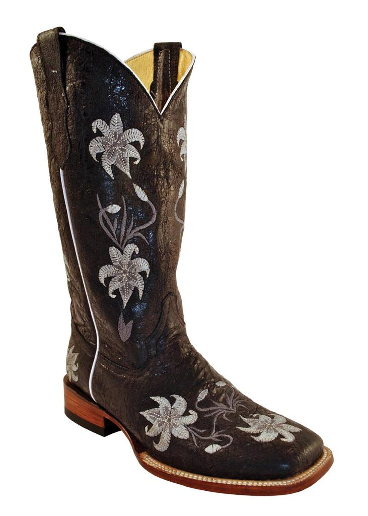 2019 year look- Cowboy Womens boots square toe