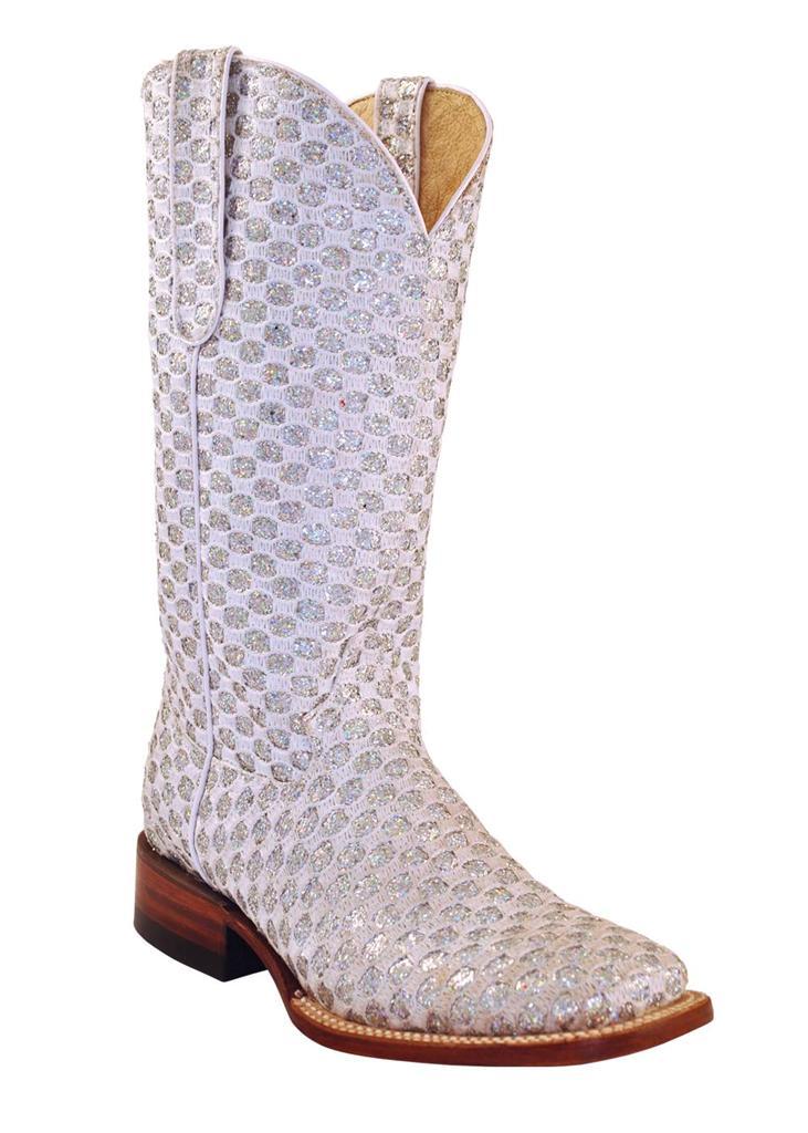ferrini western cowboy boots womens rockstar bling white v