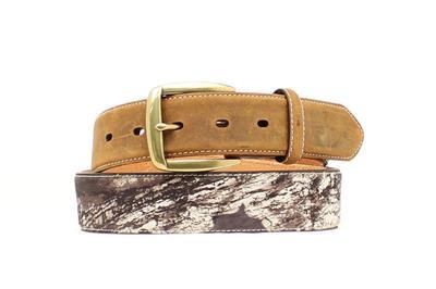 Nocona Western Mens Belt Leather Shotgun Shell Camo Brown