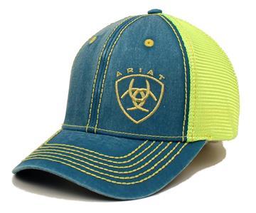 ariat western womens hat baseball cap mesh shield logo one