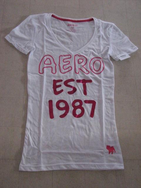 Aeropostale-Graphic-V-Neck-T-Shirt-Women-Colors-White-Pink-S-M-L-NWT