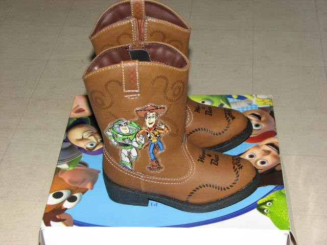 Toy Story Boots For Boys : Disney toy story rodeo brown cowboy boots boys sz