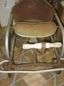 Vintage Metal/Wood Thayer Toddler Baby Walker/Stroller 1930s/40s