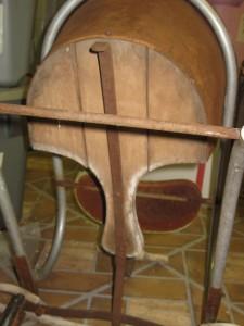 Vintage Metal Wood Thayer Toddler Baby Walker Stroller