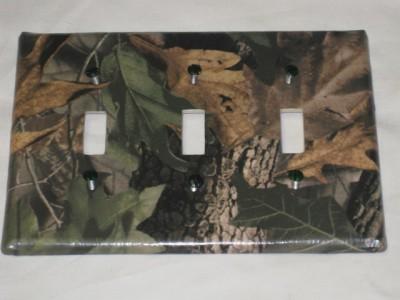 mossy oak camo bear deer moose light switch plate cover