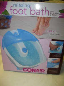 Relaxing Foot Bath With Bubbles And Heat Toe Touch Control Foot Spa