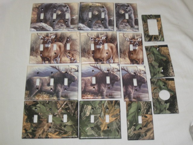 Realtree Camo Bear Deer Moose Light Switch Plate Cover
