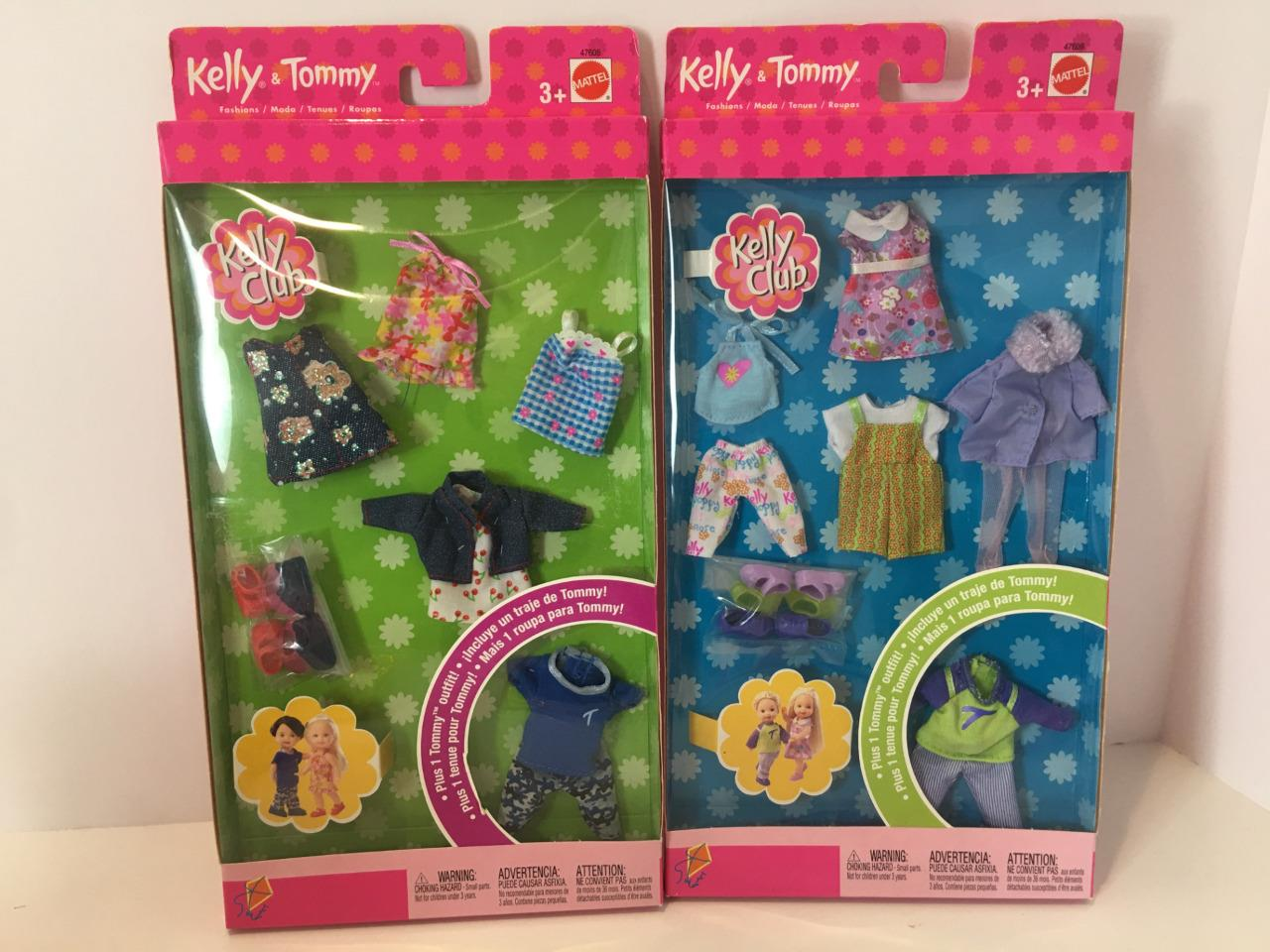 Barbie Tommy /& Kelly Club Doll Fashions Lot 2 Packs 2002 NRFB 10 Outfits Mint
