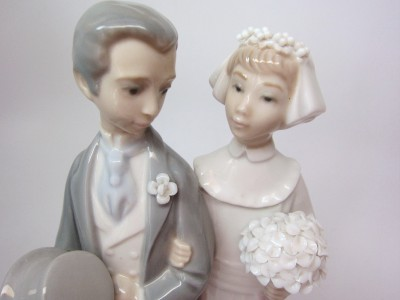 LLadro WEDDING 4808 Figurine Cake Topper Bride Groom