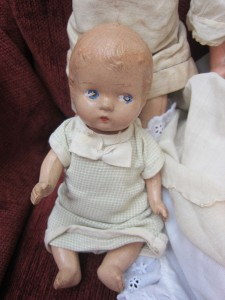 Composition Vintage Doll 5 pc Lot TLC Projects   Hug Me Baby Regal