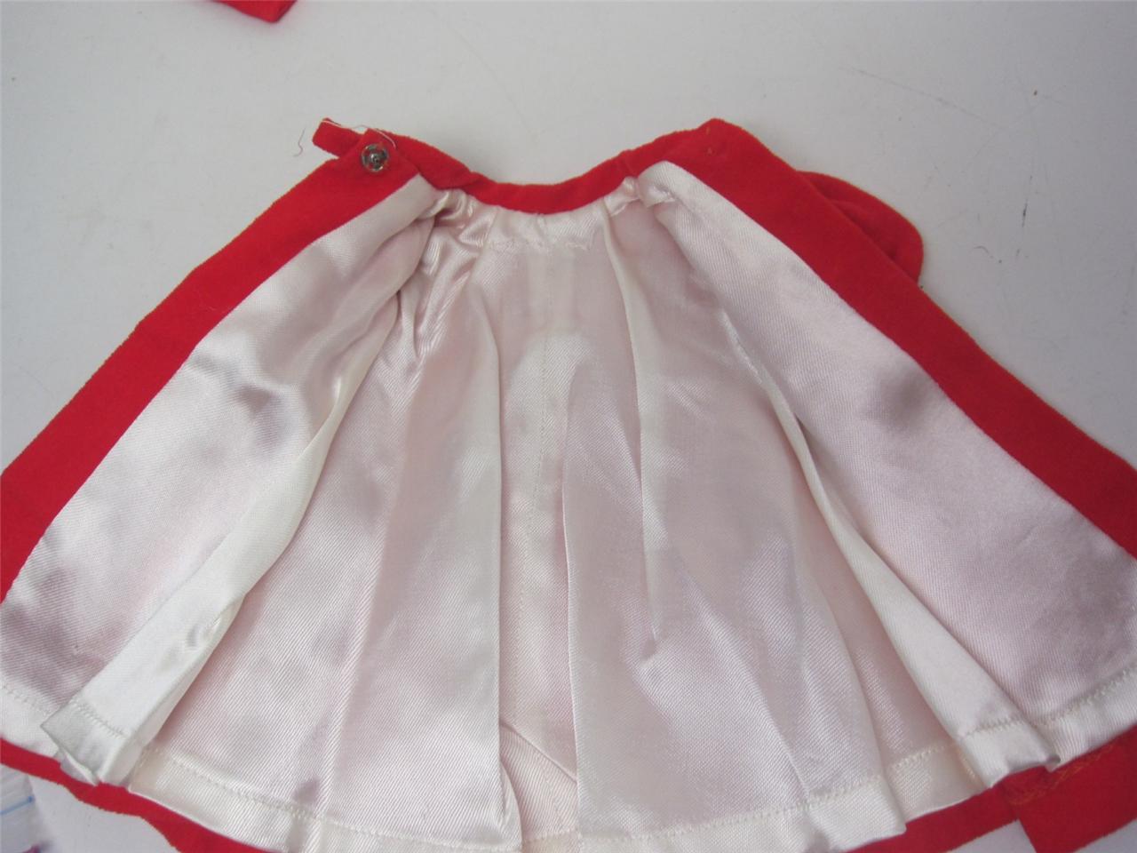 Barbie Doll Fashion RED FLARE #939 1962 Velvet Satin Coat ...
