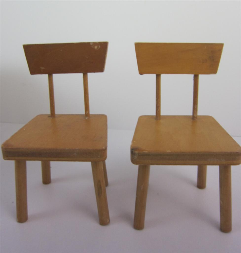 Doll Furniture 3 Pc Set 1950s Kitchen Table + Chairs Ginny