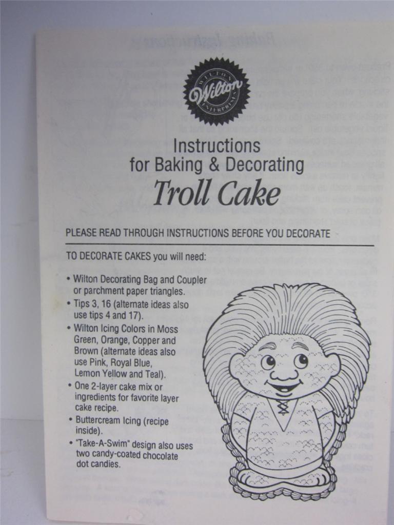 Wilton Cake Pan Troll Character 1992 Birthday Orig