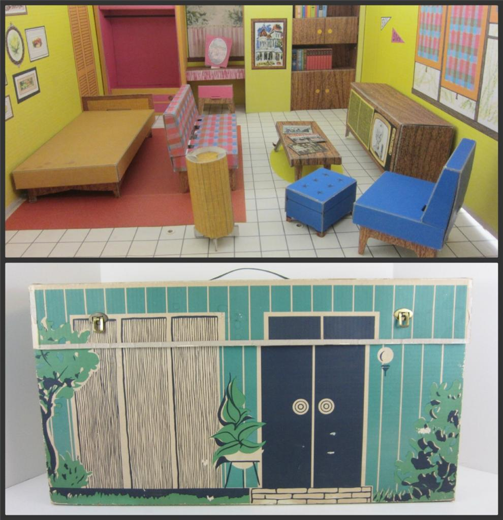 Dreams House Furniture: Barbie Dream House 1962 1st Issue Playset Furniture