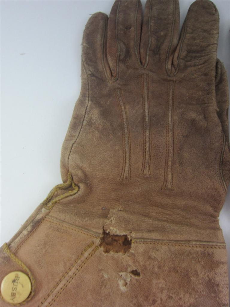 Leather gauntlet driving gloves - Antique Leather Gauntlet Riding Gloves Western Cowboy Motorcycle Vintage Womens