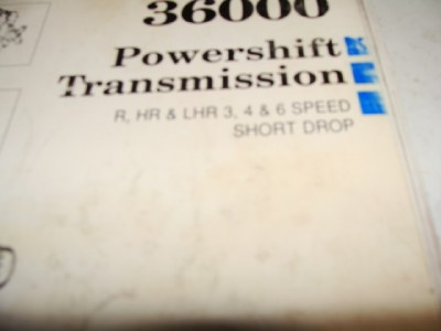 Dana Powershift 36000 Transmission Service Manual
