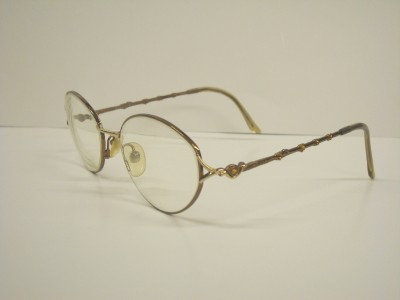 CHRISTIAN DIOR 3559 Brown Gold w/ Crystals Eyeglasses eBay