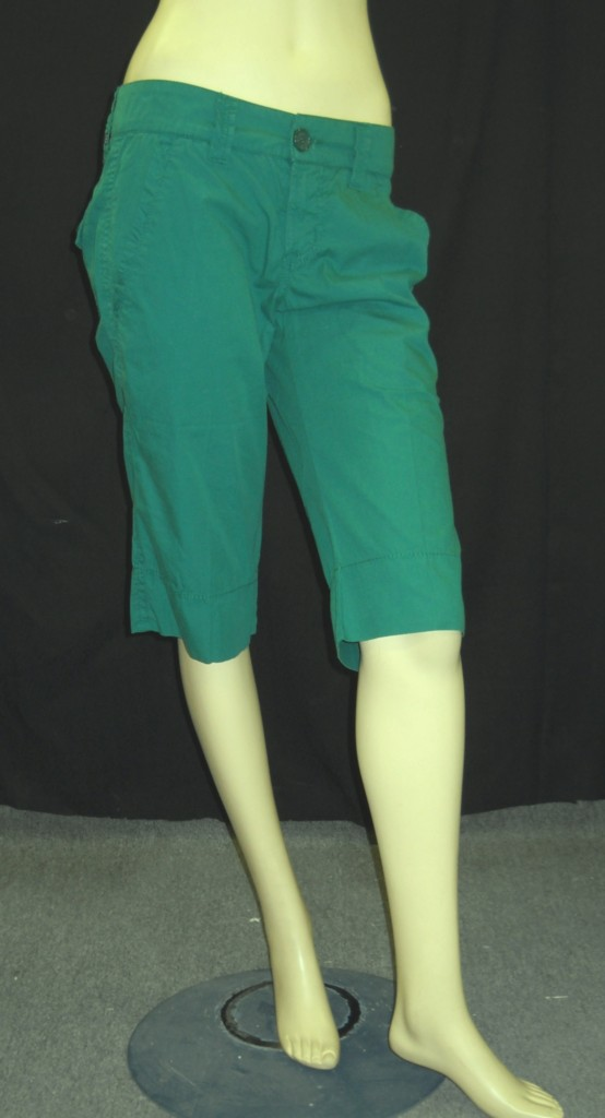 NWT-BILLY-BLUES-Green-Basic-Bermuda-Cotton-Shorts-148