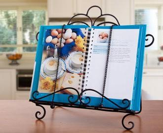 BLACK Metal Recipe Cook Book Stand Reading Holder Kitchen