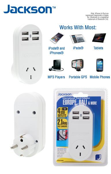 Europe Bali Outbound Travel Adaptor W 4 Fast Usb Outlets International Adapter Ebay
