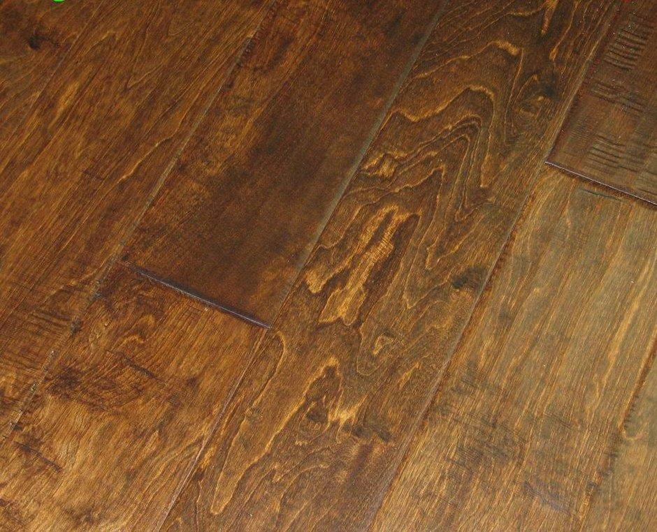 Engineered distressed hand scraped birch colombian for Distressed wood flooring