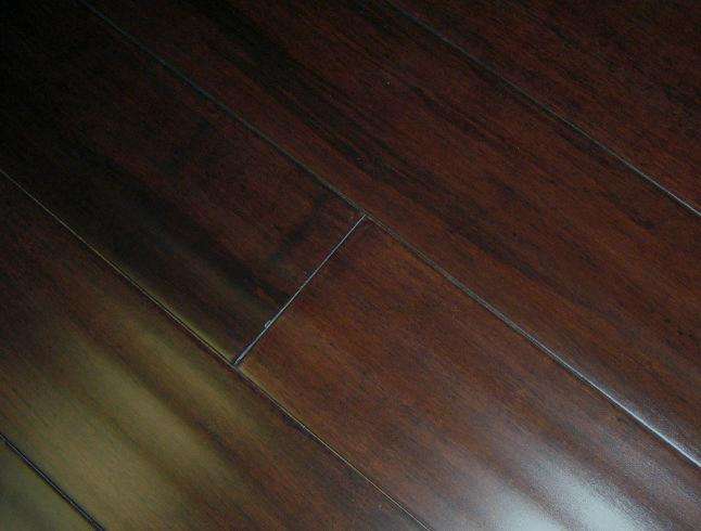 solid hand scraped strand woven bamboo russet hardwood floor flooring