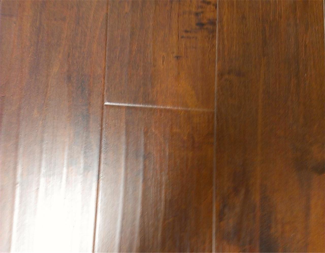 12mm distressed hand scraped amber birch laminate floor. Black Bedroom Furniture Sets. Home Design Ideas