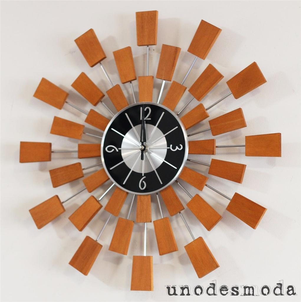 Retro Starburst Wall Decor : Cm designer retro replica sunburst wall clock ud