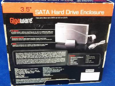New Gigaware 25 421 3 5 IDE SATA External Hard Drive Enclosure Aluminum Case