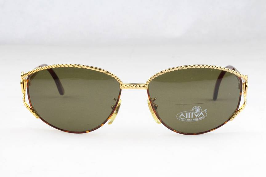 New Vintage Fendi SL 7022 Sunglasses Frames Gold Brown 123 ...